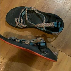 Blue pink straps CHACO Sport Sandals size 9